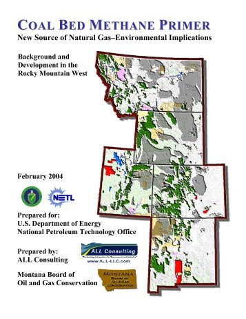 COAL BED METHANE PRIMER - Montana Board of Oil and Gas
