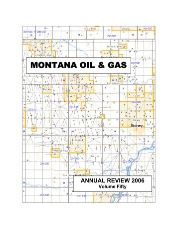 2006 Annual Review - Montana Board of Oil and Gas