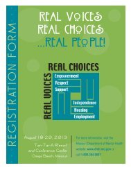 Real Voices Real Choices . . . Real People! - Missouri Department of ...
