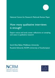 How many qualitative interviews is enough? - NCRM EPrints ...