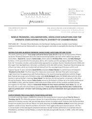 CMNW 2012 Week IV Pr.. - Chamber Music Northwest