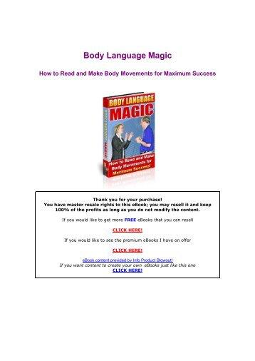 Body Language Magic - books