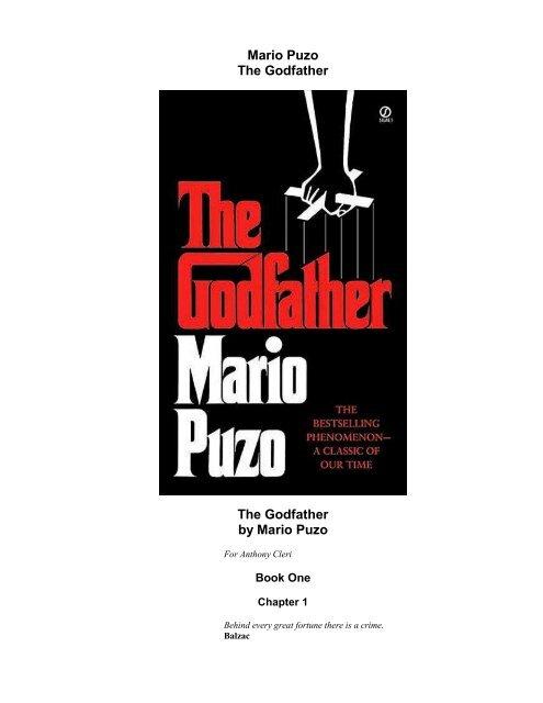 Mario Puzo The Godfather The Godfather by Mario Puzo - books