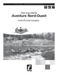 Aventure Nord-Ouest - 5e à 7e - TFO