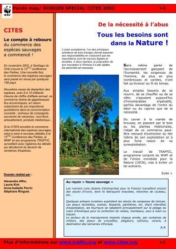 Dossier spécial CITES 2002 - WWF France