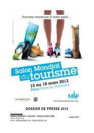 dossier de presse 2012 - Salon Mondial du Tourisme