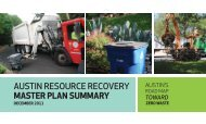 austin resource recovery master plan summary - Energy Justice ...