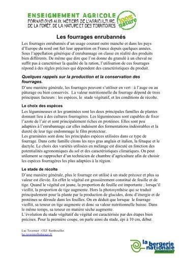 Les fourrages enrubannés - Bergerie Nationale de Rambouillet ...