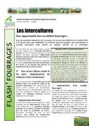 Flash fourrages n°5 du 7 juin - Chambre d'agriculture du Bas-Rhin