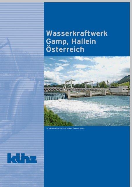 Wasserkraftwerk Gamp, Hallein Österreich