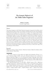 The Aramaic Dialect(s) - Books and Journals
