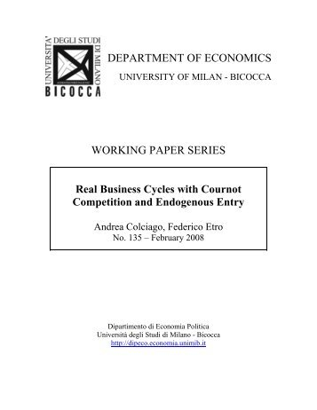 Real Business Cycles with Cournot Competition and Endogenous ...