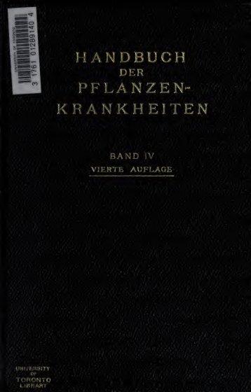 Handbuch der Pflanzenkrankheiten
