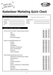 Kostenloser Marketing Quick-Check - Signal Reklame  GmbH