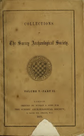 Surrey archaeological collections - University of Toronto Libraries