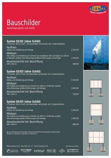 ohne Schild - Signal Reklame  GmbH
