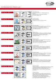 Profile im Überblick - Signal Reklame  GmbH