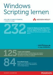 Windows Scripting lernen - ISBN 978-3-8273 ... - Addison-Wesley