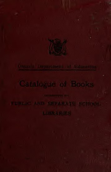 Catalogue of books recommended for public and separate ... - Index of