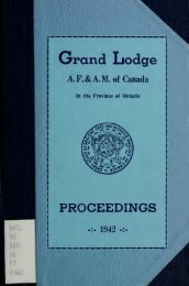 Proceedings: Grand Lodge of A.F. & A.M. of Canada, 1942