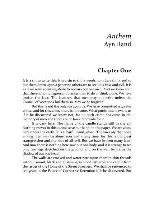 Ayn Rand Anthem Pdf Bookstacks