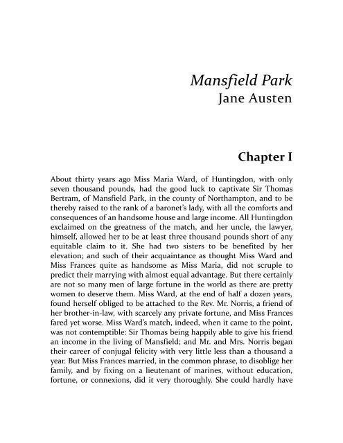 Park jane pdf mansfield austen