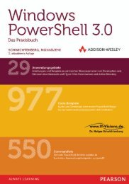 Windows PowerShell 3.0 Das Praxisbuch *978-3 ... - Addison-Wesley