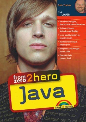 From Zero2Hero: Java - Markt und Technik