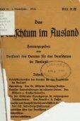 Das Deutschtum im Ausland : Vierteljahrshefte des Vereins für das ... - Seite 3