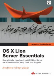 OS X Lion Server Essentials - Apple Pro Training ... - Addison-Wesley