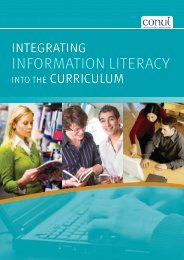 Integrating Information Literacy into the Curriculum - National ...