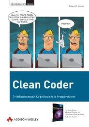 Clean Coder - *ISBN 978-3-8273-3104-5 * - ©2011 Addison-Wesley ...