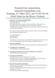 Protokoll der ordentlichen Generalversammlung vom ... - csbp.ch