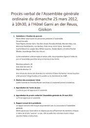 Procès-verbal de l'Assemblée générale ordinaire du ... - csbp.ch