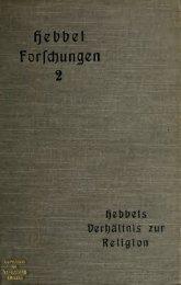Friedrich Hebbels Verhältnis zur Religion