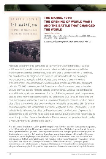 The Marne, 1914: The Opening of World War I and the Battle that ...