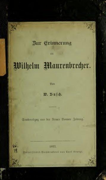 Zur Erinnerung an Wilhelm Maurenbrecher - Index of