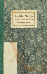 Deutsche Kultur im Zeitalter des 30 jährigen Krieges; ein Beitrag zur ...