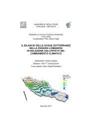 il bilancio delle acque sotterranee nella pianura lombarda in ...