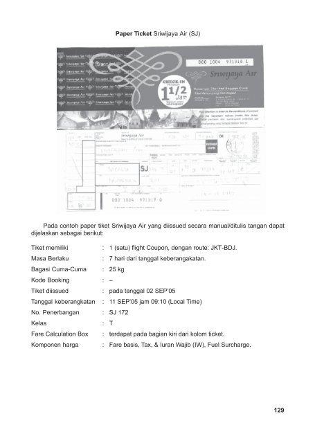 Paper Ticket Sriwijaya Ai