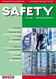 Bosch/Safety-Brosch re April/01 - Bosch Sicherheitssysteme GmbH