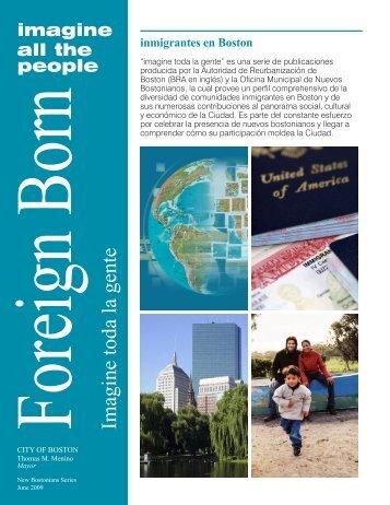 Foreign Born Imagine toda la gente - Boston Redevelopment Authority