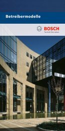 Betreibermodelle - Bosch Sicherheitssysteme GmbH