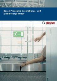 Bosch Praesideo Beschallungs- und Evakuierungsanlage