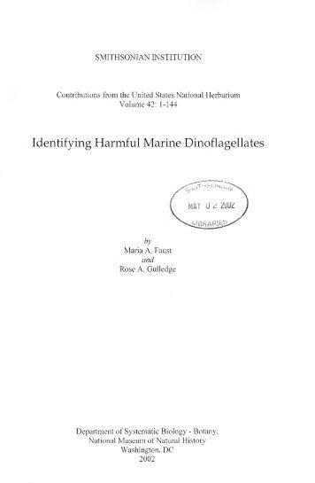 Identifying Harmful Marine Dinoflagellates - Department of Botany ...
