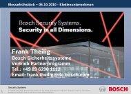 Frank Theilig - Bosch Sicherheitssysteme GmbH