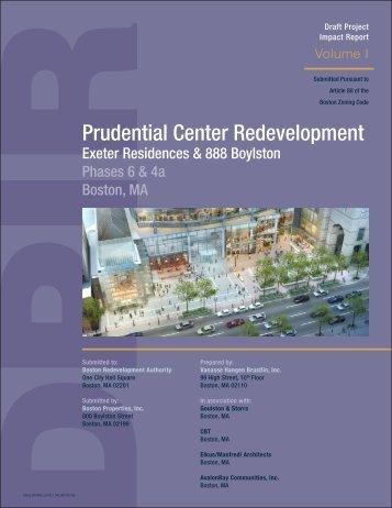 Draft Project Impact Report - Boston Redevelopment Authority