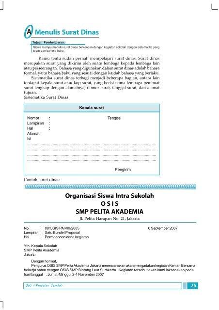 Contoh Surat Dinas Dari Osis - Download Contoh Surat Yang ...