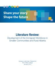 Literature Review: - Bow Valley College