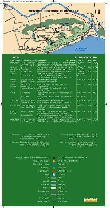 """Broschüre """"Historischer Pfad"""" - Jura & Drei-Seen-Land"""